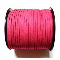 Cordón Antelina  plano Fucsia 3mm