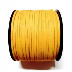 Cordón Antelina  plano Amarillo Mostaza 3mm