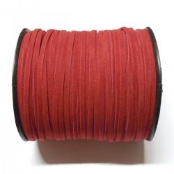 Cordón Antelina  plano Rojo 3mm