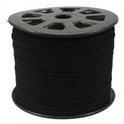 Cordón Antelina  plano negro 5mm