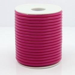 Cordón Caucho Fucsia 4 mm