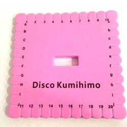 Telar Disco  Kumihimo Cuadrado