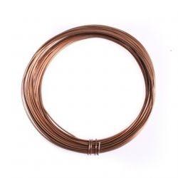 Alambre aluminio 1,5mm marrón brillante