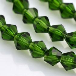 Cristal tallado Verde Botella 4mm 120 unidades