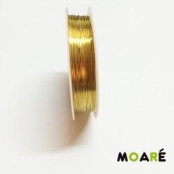 Alambre de cobre Dorado 0.3 mm 25metros