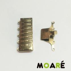Cierre Caja 5 vias 30mm Oro viejo