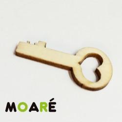 Forma madera llave corazon 30x15mm