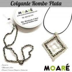 Kit Colgante Rombo Plata