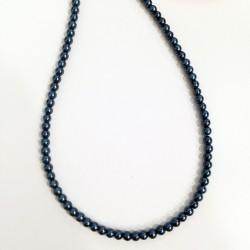 Perla Azul petroleo 3mm 100 unidades