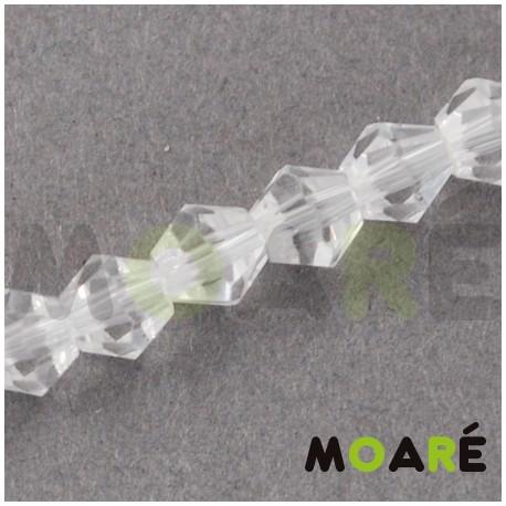 Cristal tallado  transparente  4mm 118 unidades