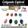 Colgante ESPIRAL Resina Varios colores