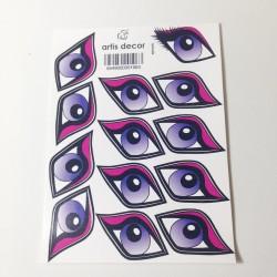 Ojos Adhesivos Diva Grandes