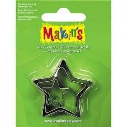 Set 3 Cortadores Estrella MAKIN'S CLAY