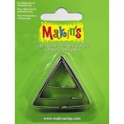 Set 3 Cortadores triánguloMAKIN'S CLAY