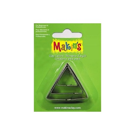 Set 3 Cortadores triángulo MAKIN'S CLAY