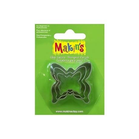 Set 3 Cortadores Mariposa MAKIN'S CLAY