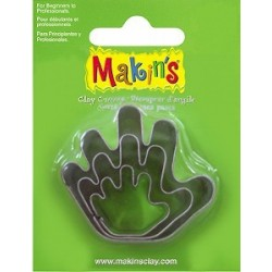 Set 3 Cortadores Mano MAKIN'S CLAY