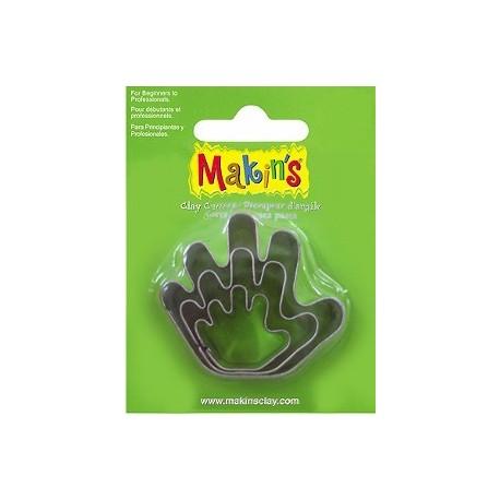 Set 3 Cortadores Mano MAKIN'S CLAY