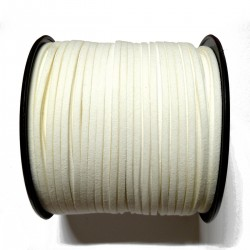 Cordón Antelina plano Blanco 3mm