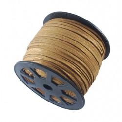 Cordón Antelina plano Dorado 3mm