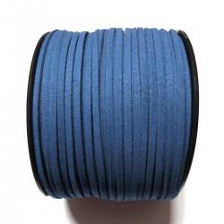 Cordón Antelina plano Azul 3mm