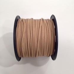Cordón Antelina plano Camel 3mm