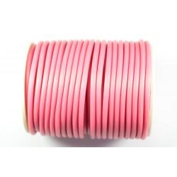Cordón Caucho Rosa 3 mm