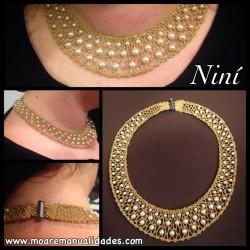 Kit Collar Bolillos Oro