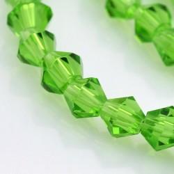 Cristal tallado Verde 4mm 120 unidades