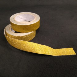 Washi Tape purpurina dorado