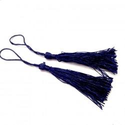 Set 2 Borlas Abanico Azul Oscuro