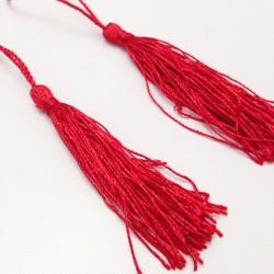 Set 2 Borlas Abanico Rojo