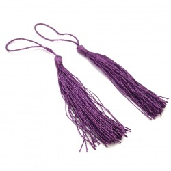 Set 2 Borlas Abanico Purpura