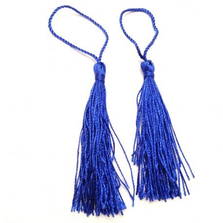 Set 2 Borlas Abanico Azul