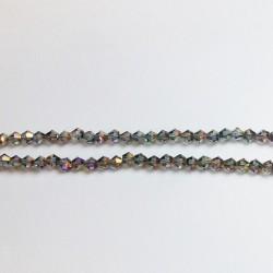 Cristal tallado Gris Brillo Irisado Metálico 3mm 150 uds