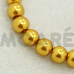 Perla Cristal Dorado 3mm 110 unidades