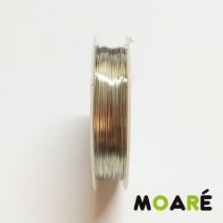 Alambre de cobre Plata 0.3 mm 25metros