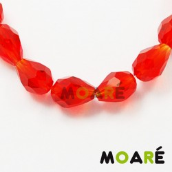 Lagrima Cristal tallado Roja