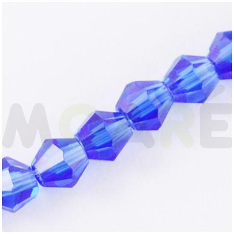 Cristal tallado Azul 4mm 118 unidades