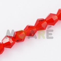 Cristal Facetado 3mm Rojo 150 unidades