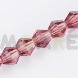 Cristal Facetado 3mm Rosa Vintage  150 unidades