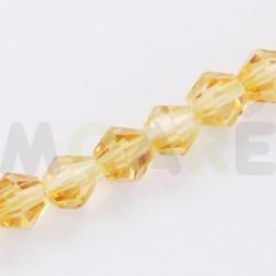 Cristal Facetado 3mm Amarillo Oro  150 unidades