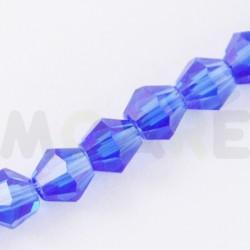 Cristal Facetado 3mm Azul 150 unidades