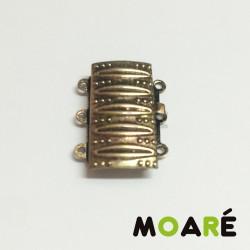 Cierre Caja 3 vias 20mm Oro viejo