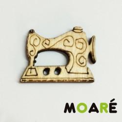 Boton madera Maquina coser Vintage 20x17mm