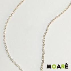Cadena a metros bisuteria ovalada fina plata 100cm