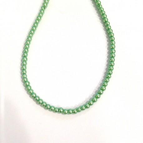 Perla Verde Claro 3mm 100 unidades