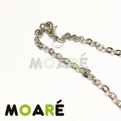 Collar Cadena ACERO 70 cm Oval Chafada fina