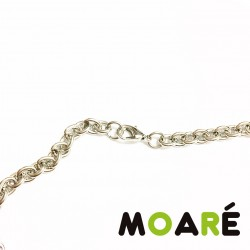 Collar Cadena ACERO 70 cm Oval Gruesa