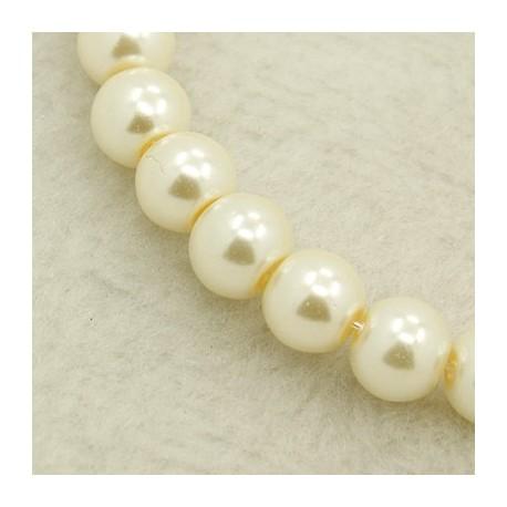 Perla Blanca 6 mm 100 unidades